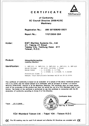 2009 CE Certificate for Labeler